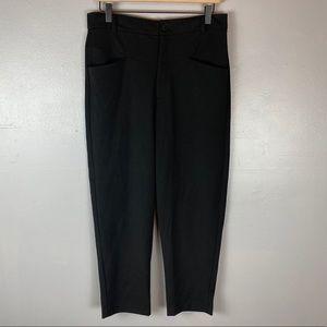 Zara black high rise ankle pants large